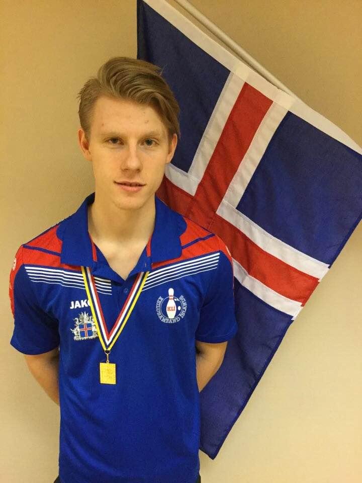 Arnar Davíð Jónsson sigraði í samanlögðu á Norðurlandamóti ungmenna 2015